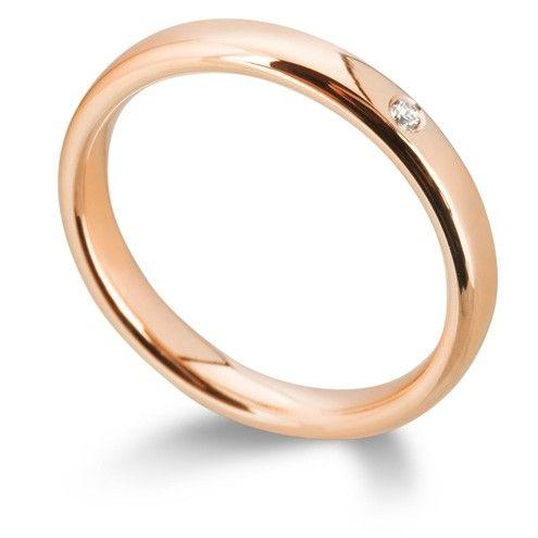 Ace Bridal 18ct Pink Gold Wedding Band 2 5mm