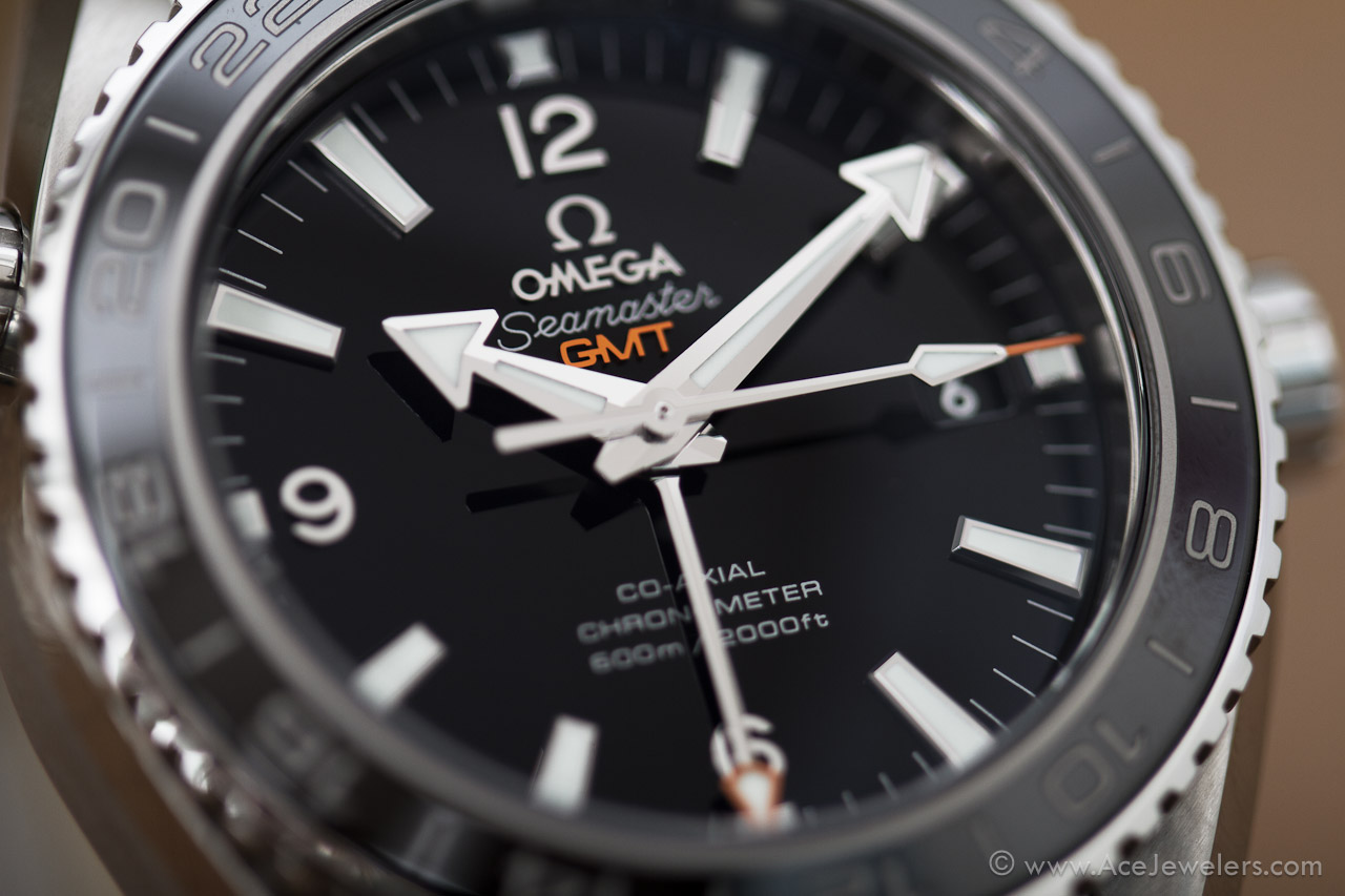 Omega Seamaster Planet Ocean Co-Axial GMT   Ace Jewelers Magazine 360362d38d