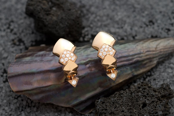 600 akillis python earrings rose gold ace jewelers amsterdam