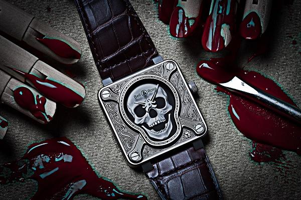600 Ace Jewelers Bell Ross BR Skull Tattoo Halloween Creepy mid-1