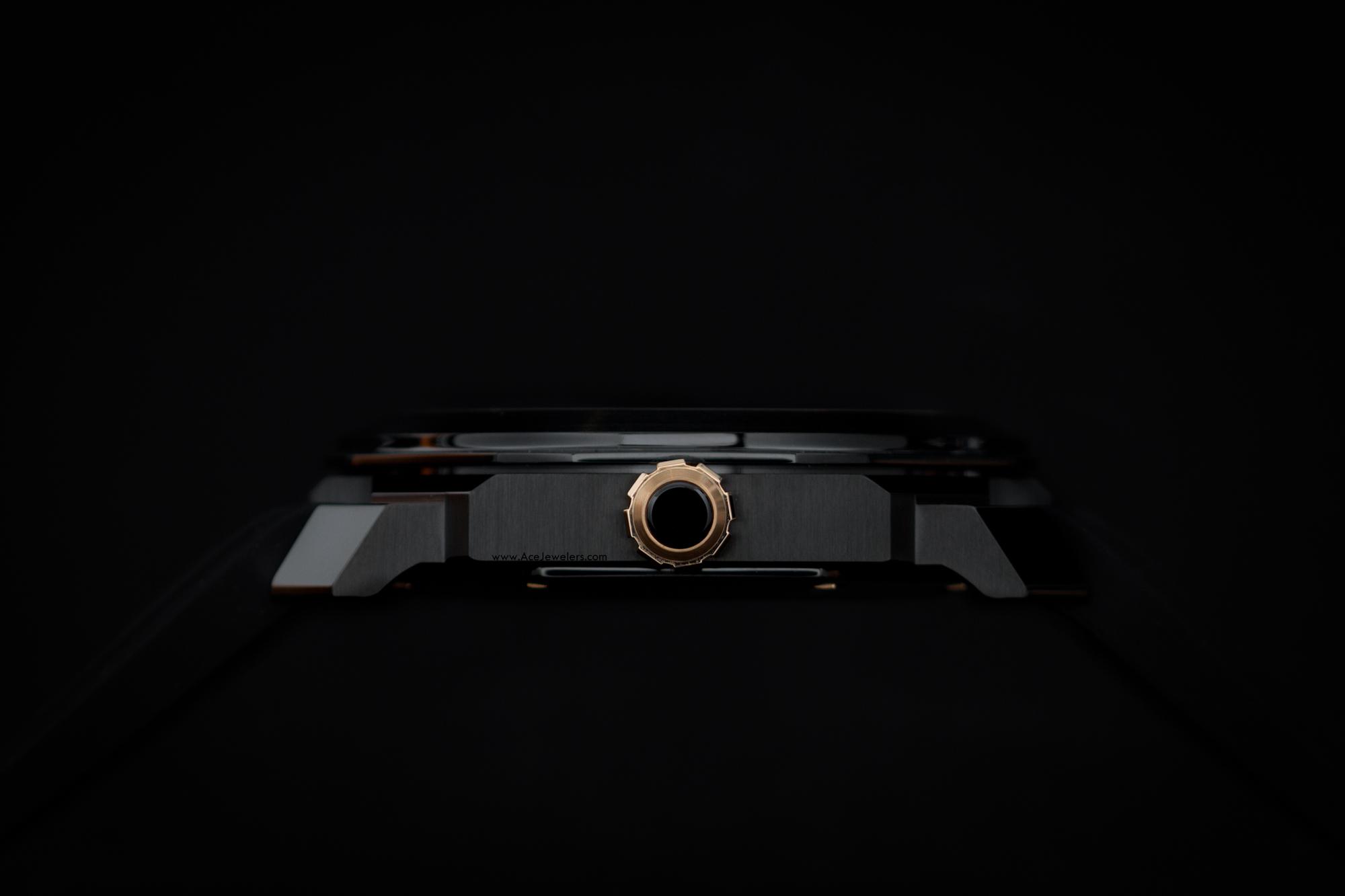 bulgari octo ultranero black & pink gold rubber strap ace jewelers amsterdam-1 (1)