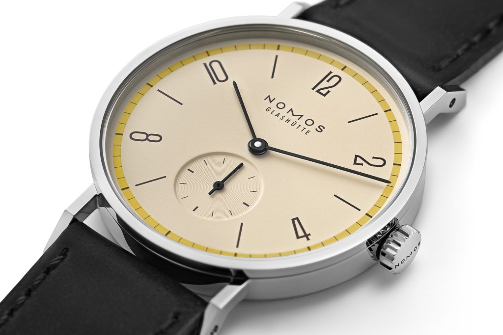 Nomos Tangente Bauhaus Limited Edition Yellow