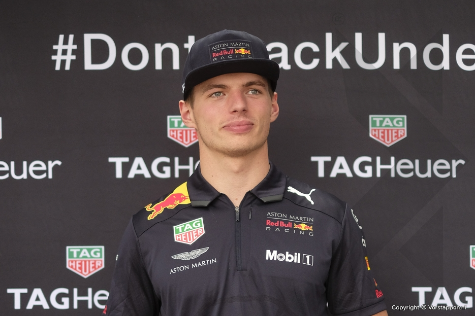 Max Verstappen visiting the TAG Heuer Factory in Switzerland