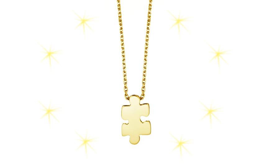 Akillis puzzle gold necklace shop Ace Jewelers Christmas gift ideas for her and for him