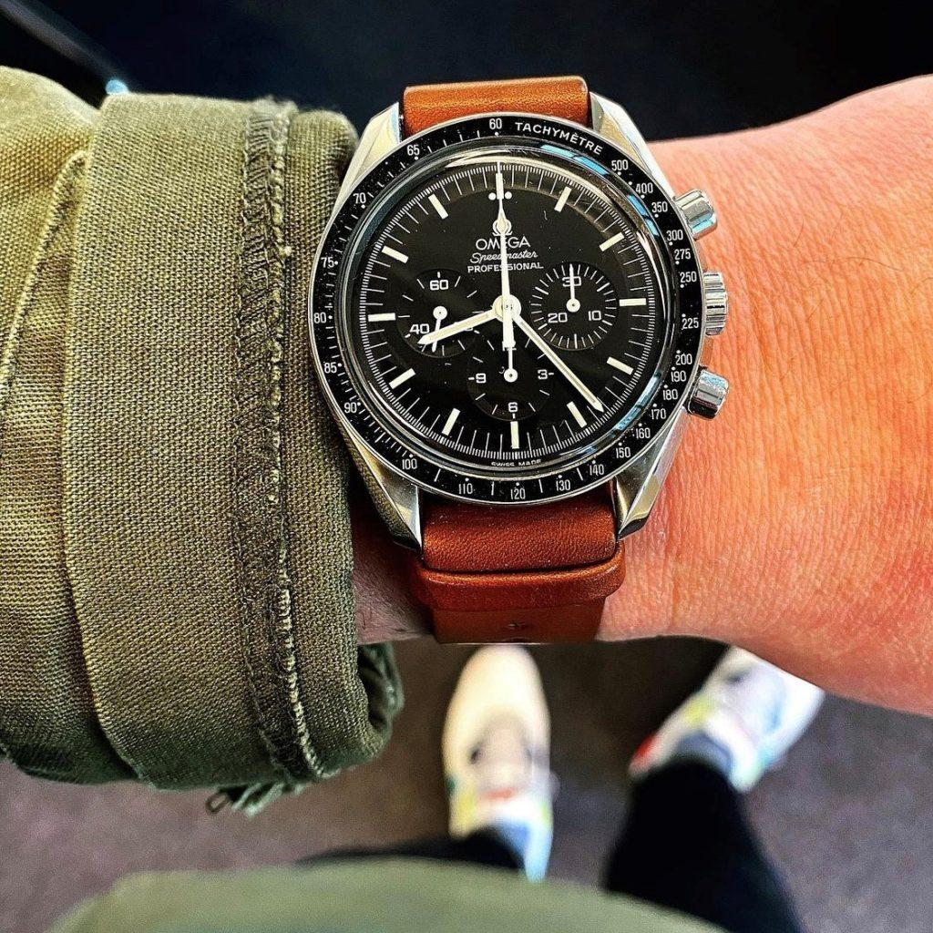 Omega Speedmaster on leather NATO